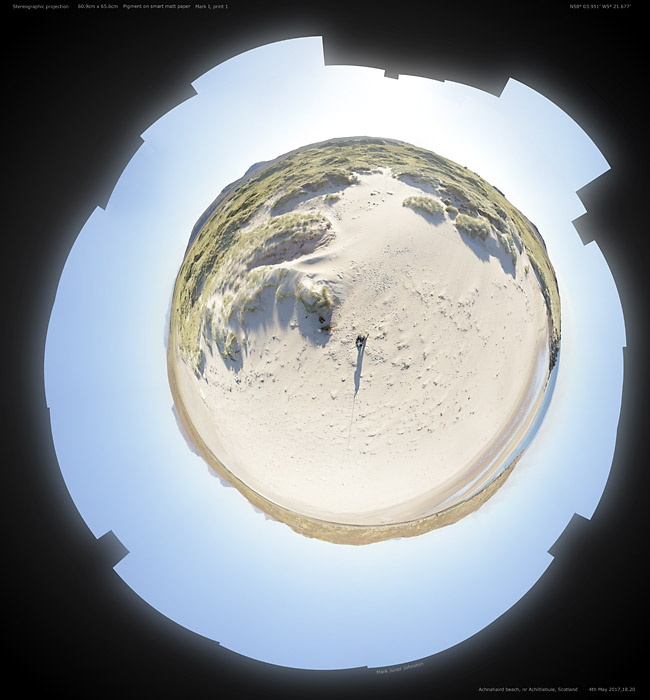 Achnahaird Beach 22 May 2017 Stereoscopic projection
