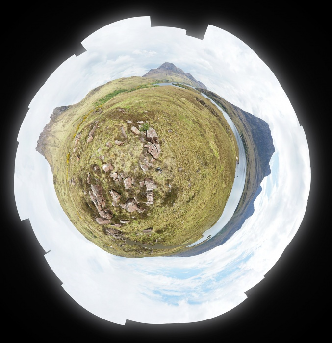 Stac Pollaidh 22 May 2017Stereoscopic  projection