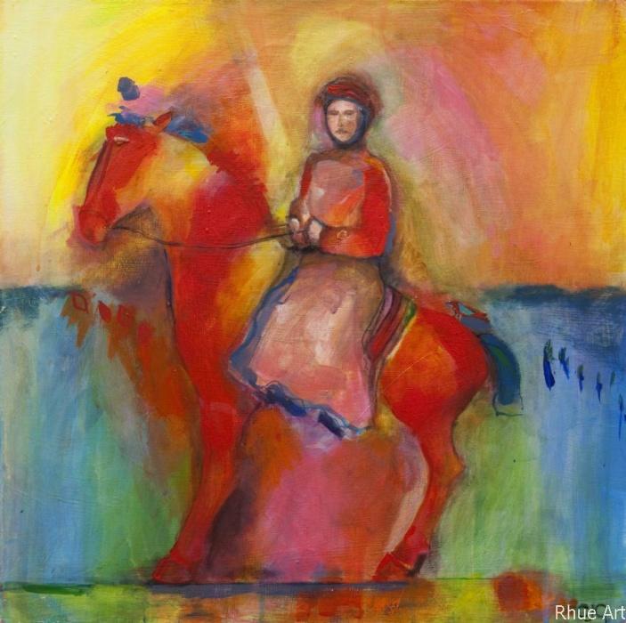 Red HorsemenAcrylic  on Canvass50x50 cm 2009