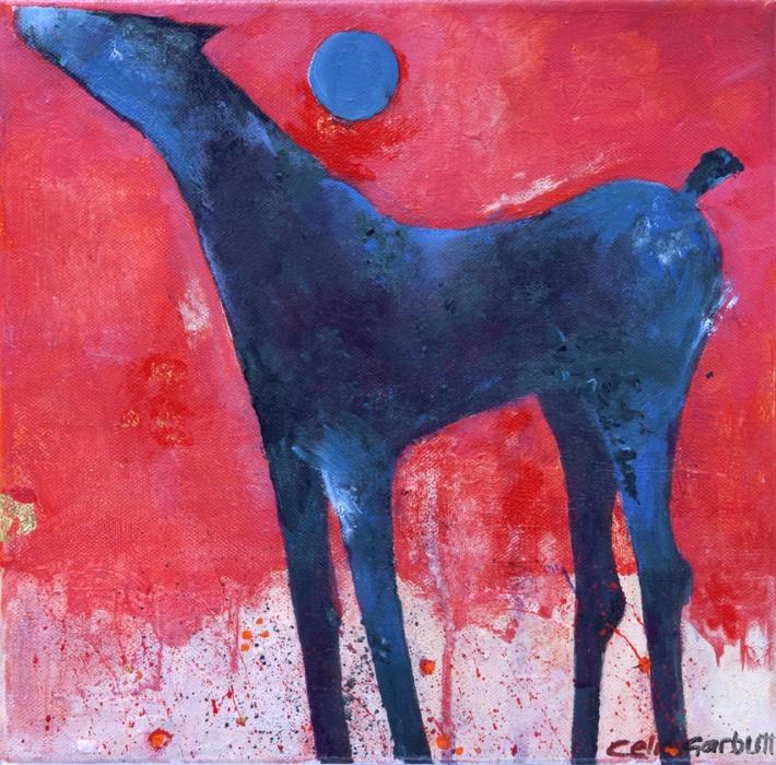 Blue HorseAcrylic  on Canvass30x30 cm 2010