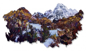 The Torridon HillsAcrylic on Carbon fiber85 cm x 153 cm inches2014 Sold