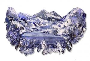 Beinn dearg from Loch na Hoidhcheacrylic on paper on carbon fibre 84 x 51 cm 2016