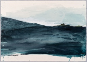 Isle of Eigg in the Storm Watercolour