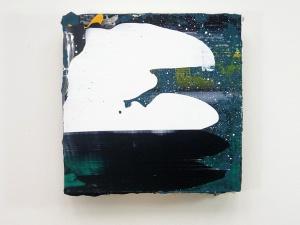 Y Gadair DduAcrylic on MDF25 cm x 25 cm 2012
