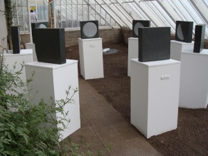 Many moons circleKilmartin slate and plinths6 x (40 x 40 x 10 cm)