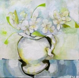 White FlowersAcrylic  on Canvas30 x 30 cm