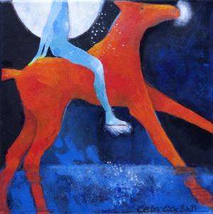 Night RiderAcrylic  on Canvas30 x 30 cm